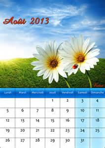 calendrier août 2013